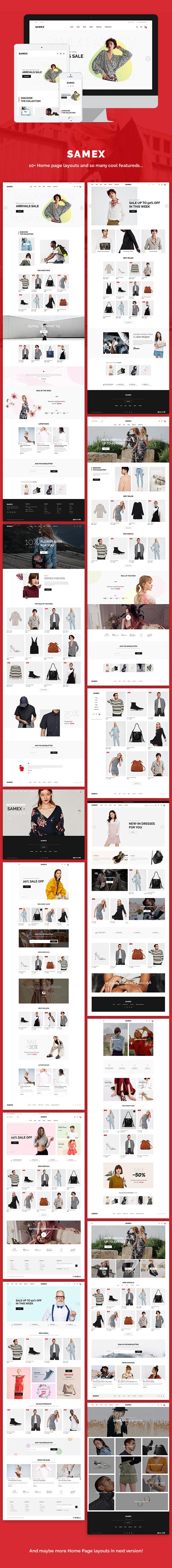 Samex - Clean, Minimal Shop WooCommerce WordPress Theme - 1